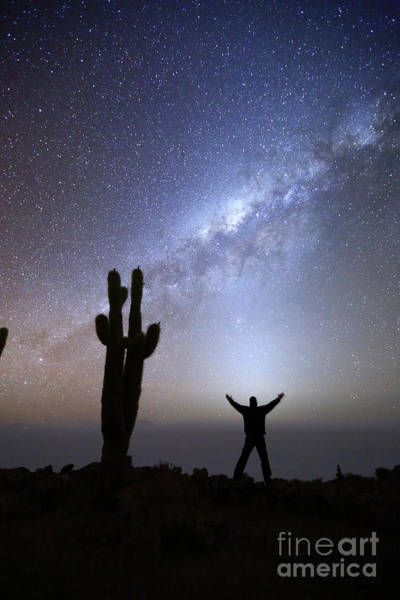 Wall Art - Photograph - Absorbing The Energy Of The Zodiacal Light Incahuasi Island Bolivia by James Brunker