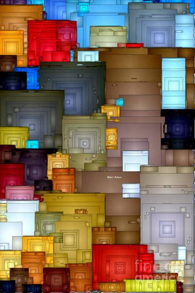 Digital Art - Abstract 0835 by Rafael Salazar