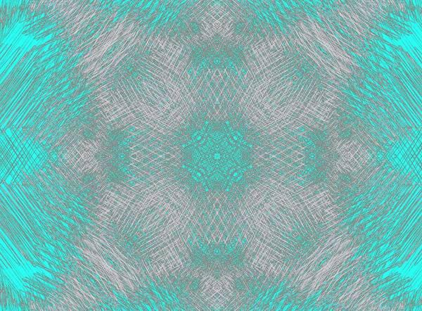 Wall Art - Mixed Media - Abstract 1 Snowflake by Lisa Stanley