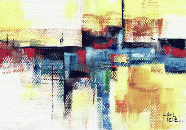 Painting - Abstract 15 by Anil Nene