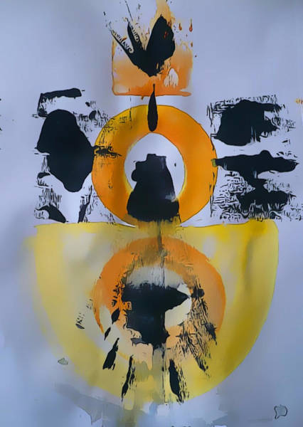 Painting - Orange Abstract  by 'REA' Gallery