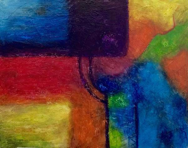 Pastel - Abstract 2 by Thelma Delgado