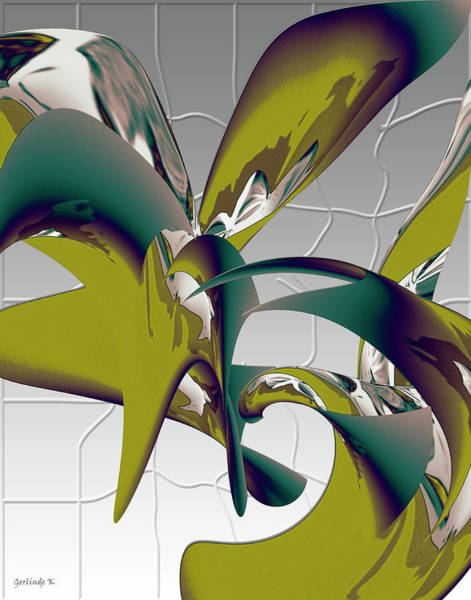 Associated Digital Art - Abstract 2258 by Gerlinde Keating - Galleria GK Keating Associates Inc