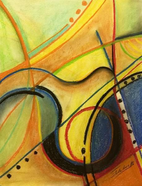 Pastel - Abstract 3 by Thelma Delgado