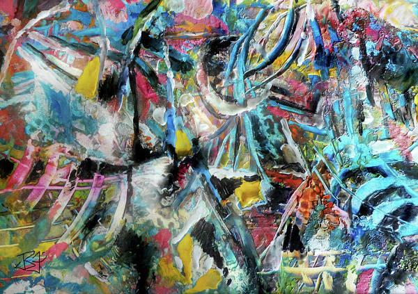 Abstract 301 - Encaustic Art Print