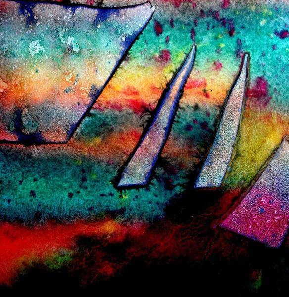 Vibrant Mixed Media - Abstract 32 by John  Nolan