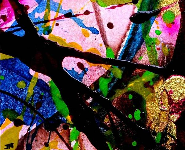 Expressionism Mixed Media - Abstract 48 by John  Nolan