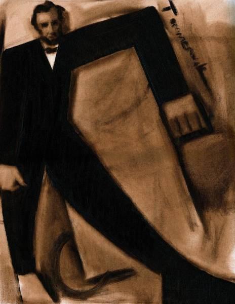 Tommervik Abstract Abraham Lincoln Art Print Art Print