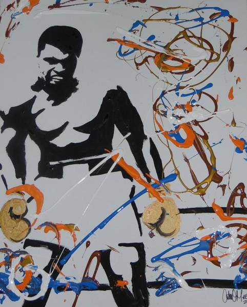 Painting - Abstract Ali by Antonio Moore