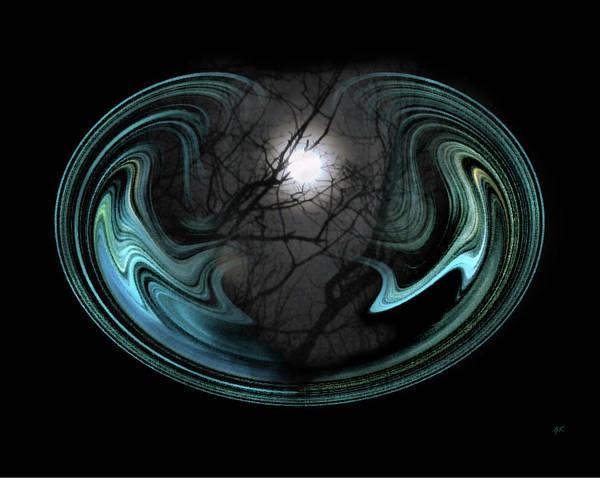 Digital Art - Abstract Art - Full Moon by Gerlinde Keating - Galleria GK Keating Associates Inc