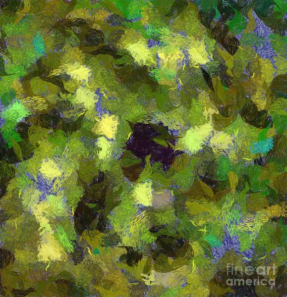 Spiritual Growth Painting - Abstract Art By Tito. Foliage by Tito