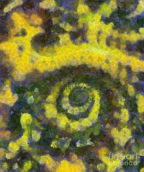 Spiritual Growth Painting - Abstract Art By Tito. Sunflower by Tito
