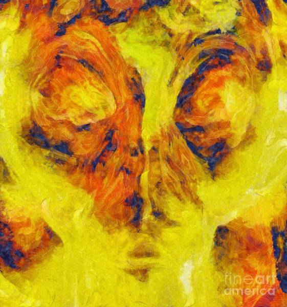 Spiritual Growth Painting - Abstract Art By Tito. The Face by Tito