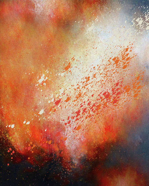 Mixed Media - Abstract Art Storm Within The Volcano by Isabella Howard