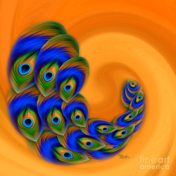 Pheasant Digital Art - Abstract Art - Vanity Vortex By Rgiada by Giada Rossi