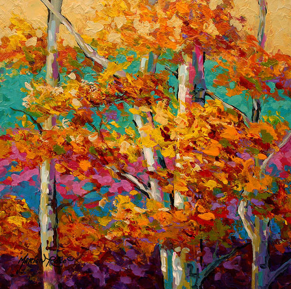 Scenic Landscape Painting - Abstract Autumn IIi by Marion Rose