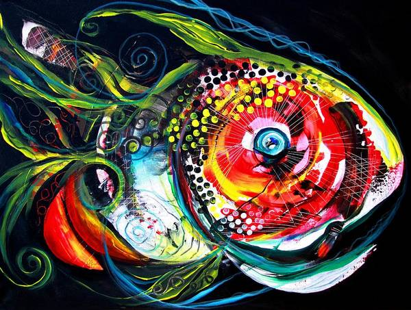 Painting - Abstract Baboon Fish by J Vincent Scarpace
