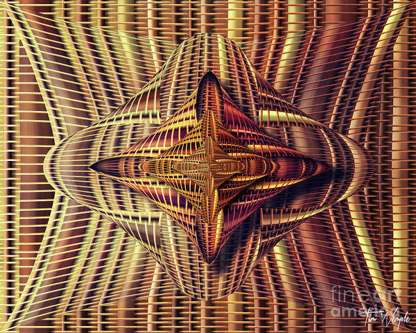 Digital Art - Abstract Basket 6 by Tim Wemple