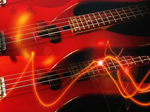 Wall Art - Digital Art - Abstract Bass Energy by Elaine Ferrell
