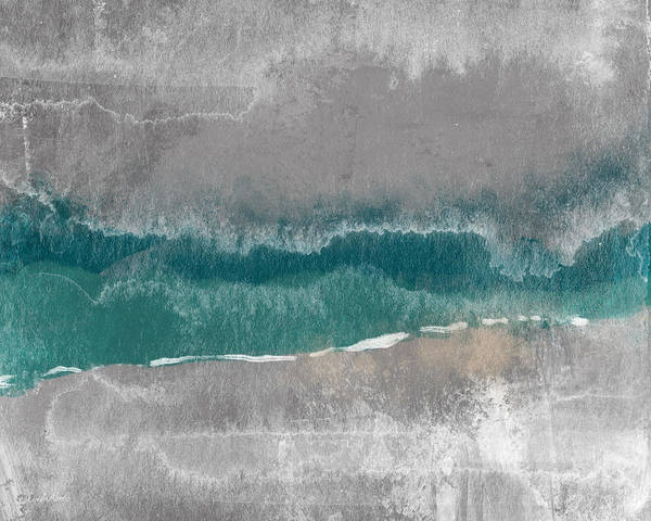 Teal Mixed Media - Abstract Beach Landscape- Art By Linda Woods by Linda Woods