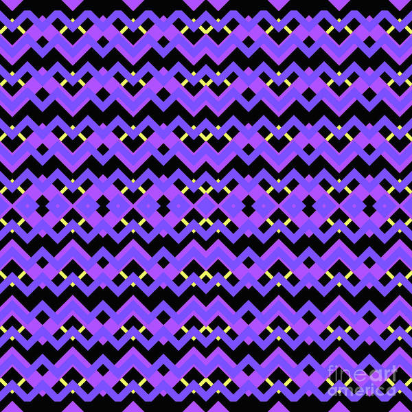 Wall Art - Digital Art - Abstract Black, Purple And Blue Pattern For Home Decoration by Drawspots Illustrations