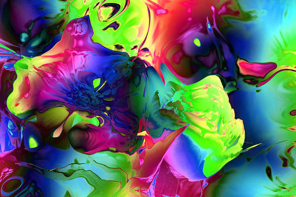 Wall Art - Photograph - Abstract-blue Flowers by Patricia Motley