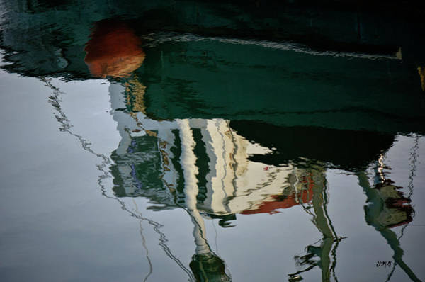 Photograph - Abstract Boat Reflection II by Dave Gordon