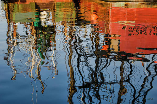 Photograph - Abstract Boat Reflections Iv by Dave Gordon