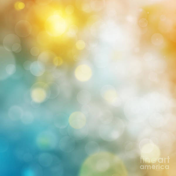 Freshness Digital Art - Abstract Bokeh by Atiketta Sangasaeng