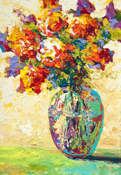 Still-life Painting - Abstract Boquet Iv by Marion Rose