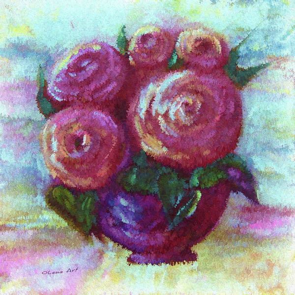 Painting - Abstract Bouquet   by OLena Art - Lena Owens