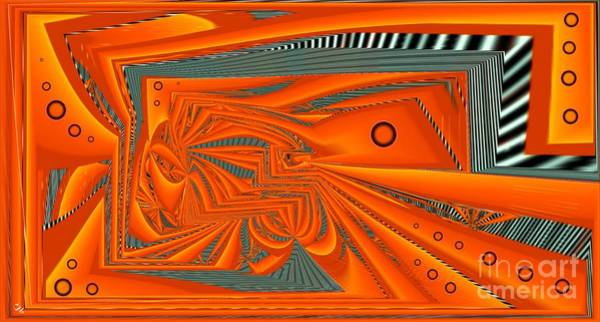 Distortions Digital Art - Abstract Boxed by Ron Bissett