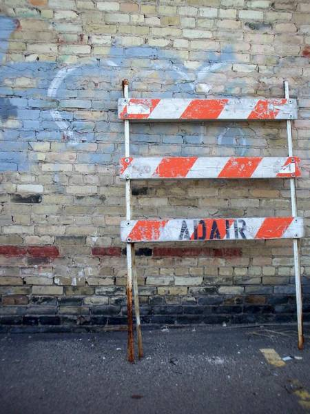 Photograph - Abstract Brick 1 by Anita Burgermeister