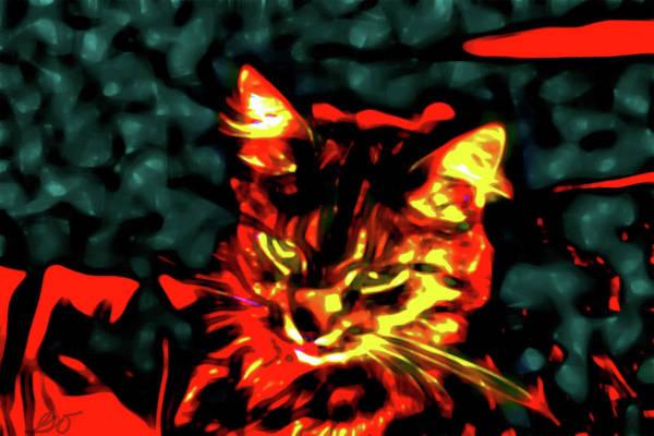 Abstract Cat Art Print