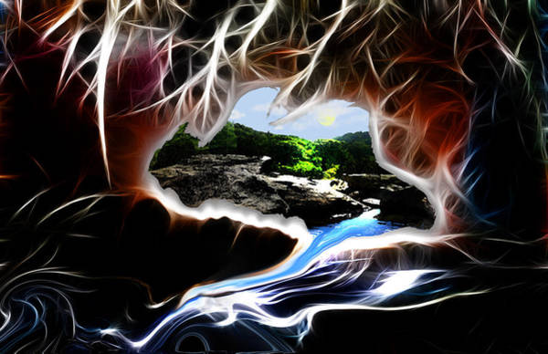 Wall Art - Digital Art - Abstract-cavern by Patricia Motley