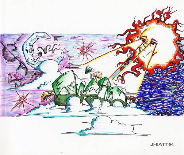 Drawing - Abstract Celestial by Jhiatt