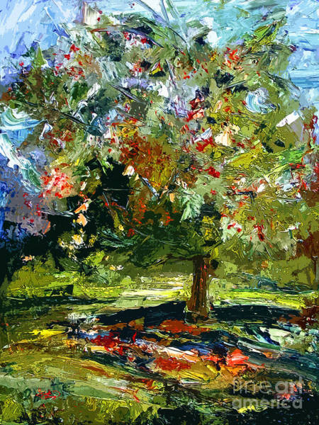 Painting - Abstract Cherry Tree  by Ginette Callaway
