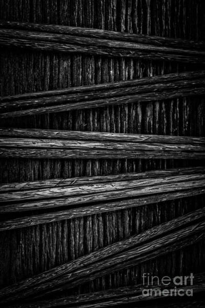 Photograph - Abstract Chopsticks Black And White by Edward Fielding