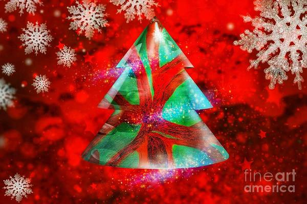 Abstract Christmas Bright Art Print