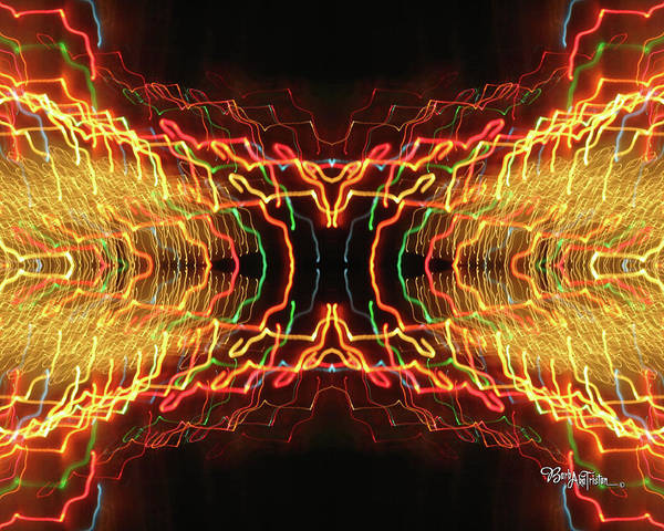 Photograph - Abstract Christmas Lights #173 by Barbara Tristan