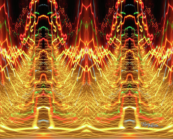 Photograph - Abstract Christmas Lights #175 by Barbara Tristan