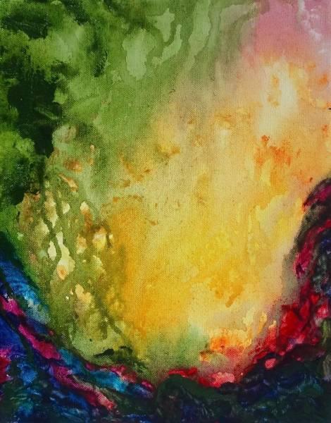 Abstract Color Splash Art Print