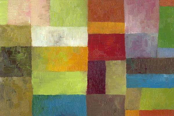 Oil Pastel Painting - Abstract Color Study Lv by Michelle Calkins