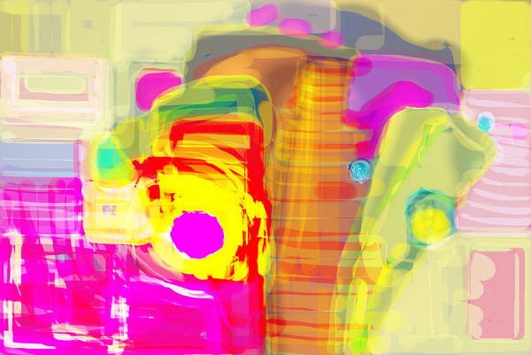 Silver And Gold Digital Art - Abstract Colors by Don  Wright