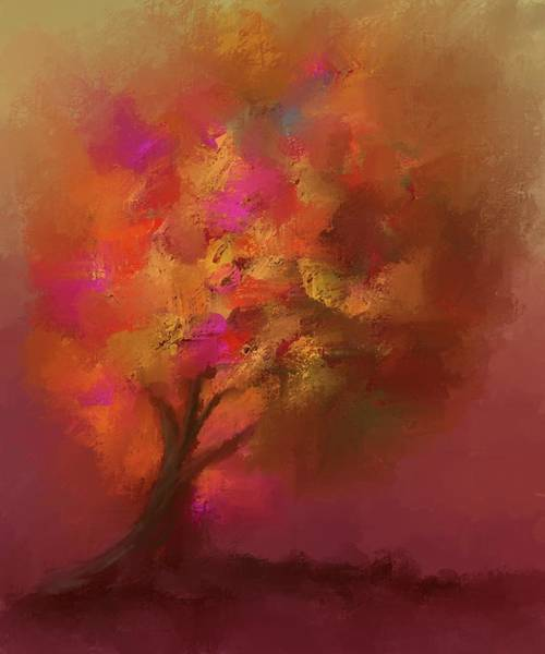 Digital Art - Abstract Colourful Tree by Eduardo Tavares