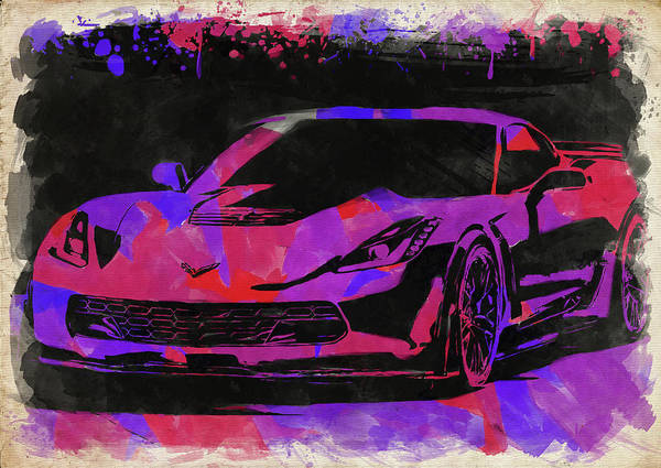 Wall Art - Photograph - Abstract Corvette Watercolor X by Ricky Barnard