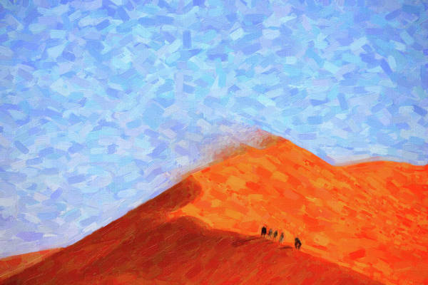 Painting - Abstract Desert Sand Dunes by Adam Asar