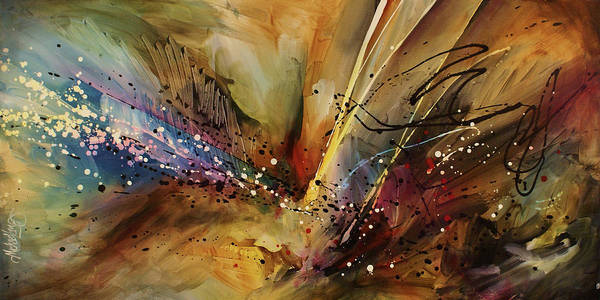 Abstract Expressionism Wall Art - Painting - Abstract Design 108 by Michael Lang