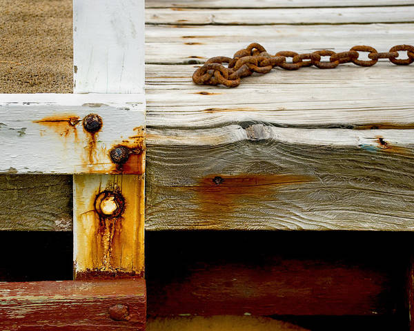 Photograph - Abstract Old Swim Dock by Charles Harden