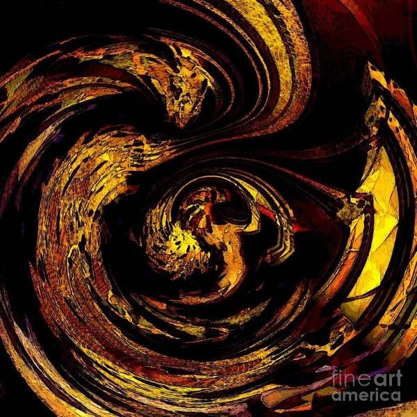Digital Art - Abstract Dragon Gold Nest by Swedish Attitude Design